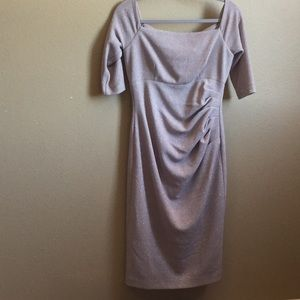 Eliza J. Size 8 taupe dress with simmer throughout